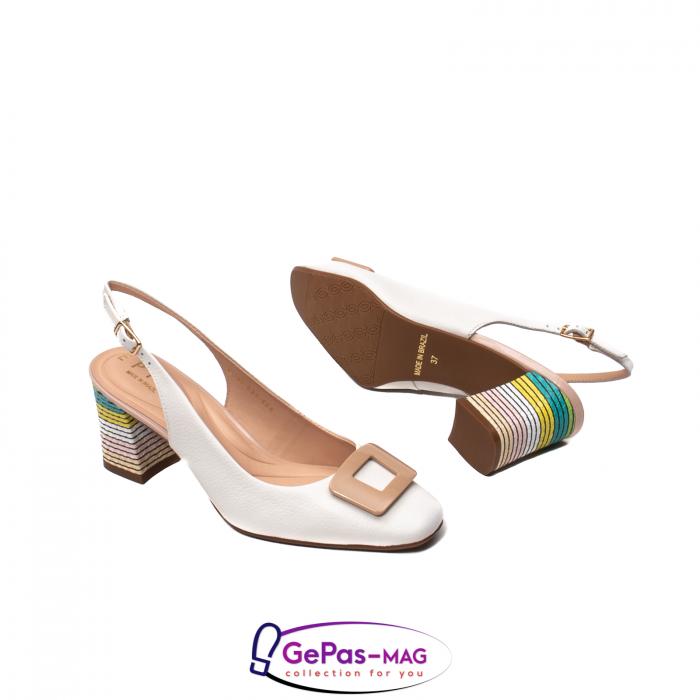 Pantofi decupati dama, piele naturala, OE10090 3
