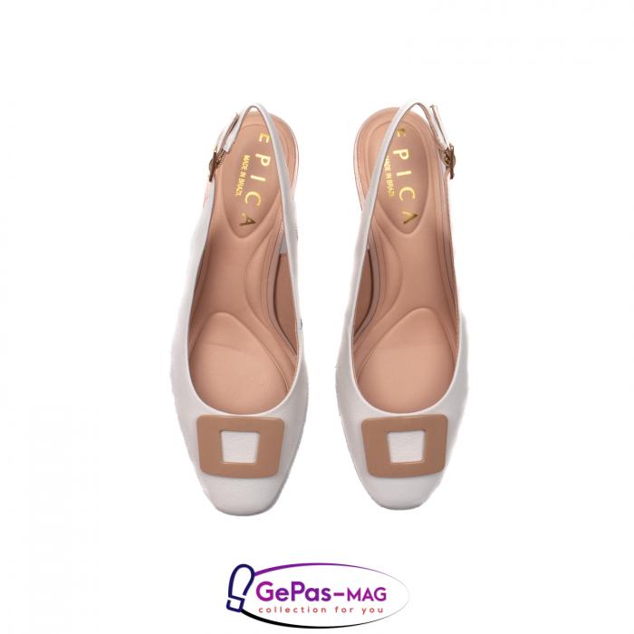 Pantofi decupati dama, piele naturala, OE10090 5