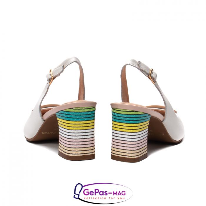 Pantofi decupati dama, piele naturala, OE10090 6