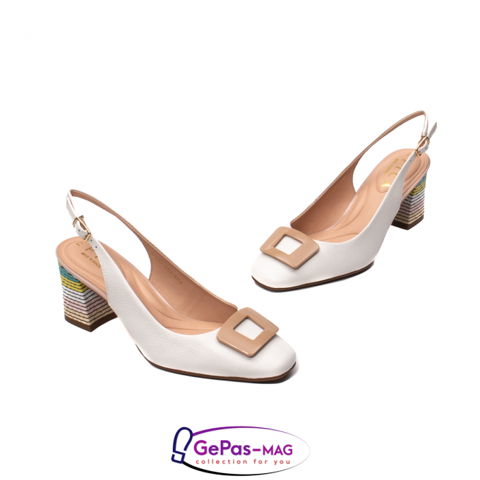Pantofi decupati dama, piele naturala, OE10090 1