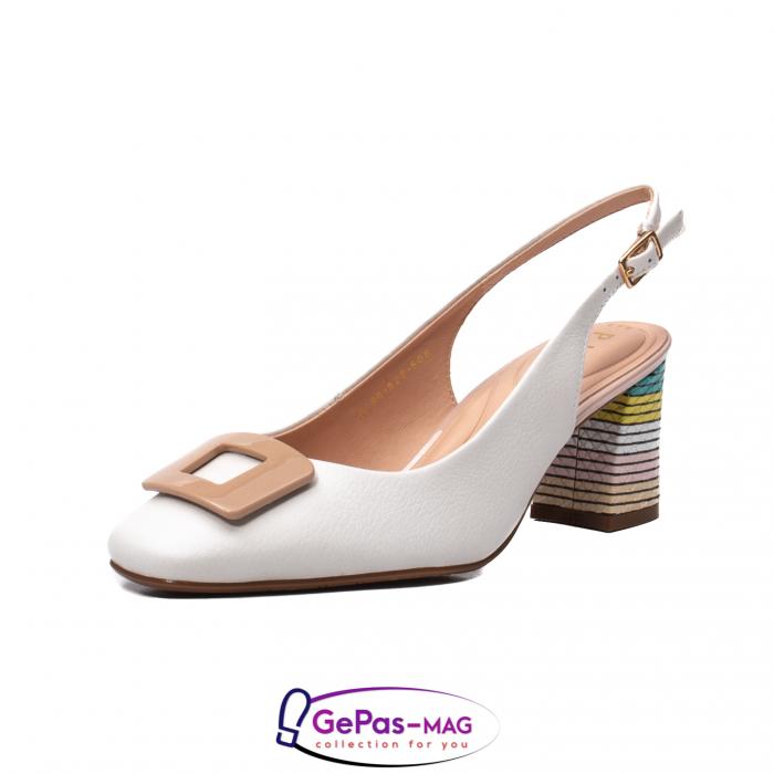 Pantofi decupati dama, piele naturala, OE10090 0