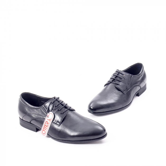 Pantofi eleganti barbat din piele naturala Otter QRA33531 01-N,negru 1