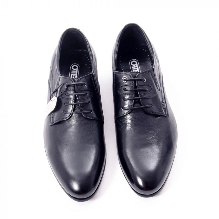 Pantofi eleganti barbat din piele naturala Otter QRA33531 01-N,negru 5