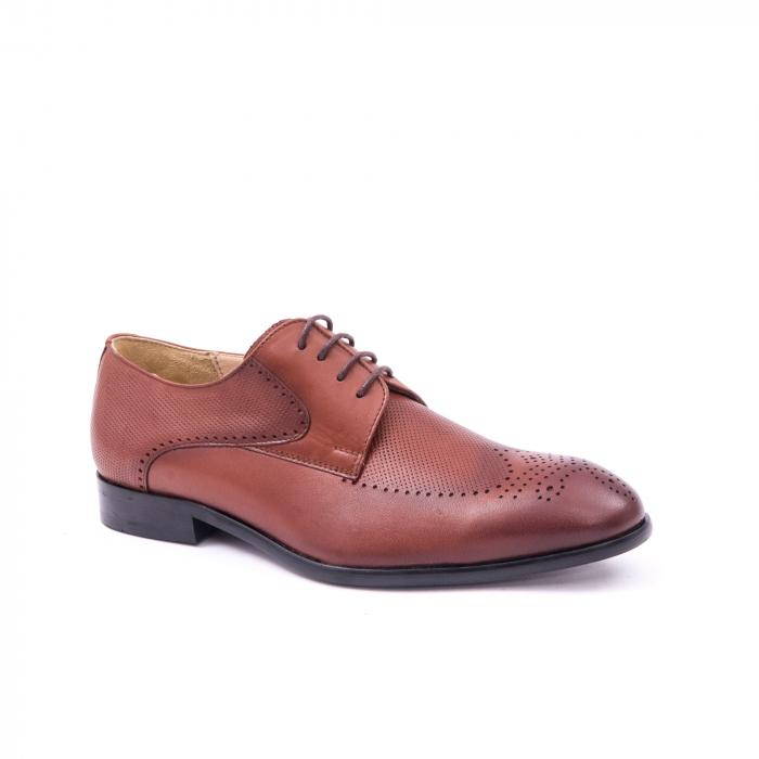 Pantofi barbati eleganti, piele naturala, Nevalis 116, coniac [0]