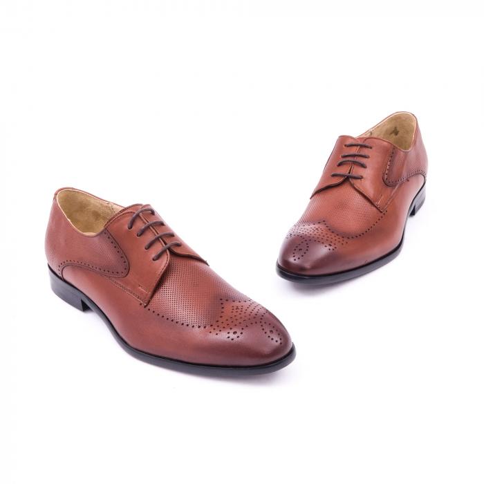 Pantofi barbati eleganti, piele naturala, Nevalis 116, coniac [1]