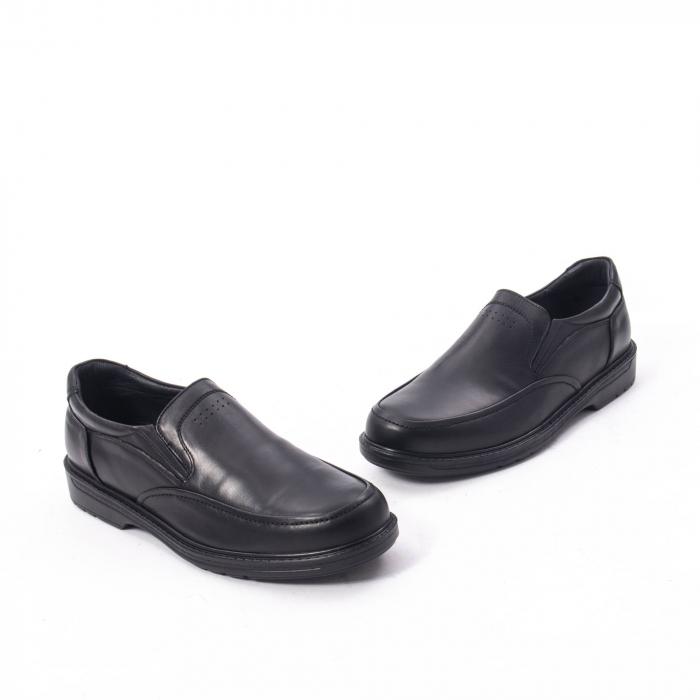 Pantofi eleganti barbati piele naturala, Catali 192561, negru 1