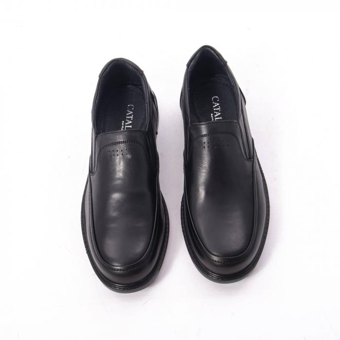 Pantofi eleganti barbati piele naturala, Catali 192561, negru 5