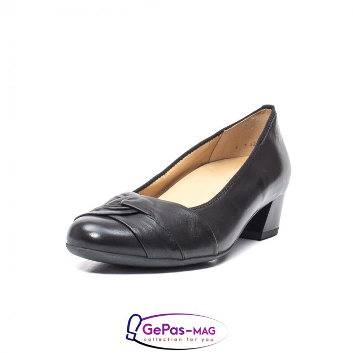 Pantofi eleganti dama din piele naturala neteda cu toc mic AR12-35811 0