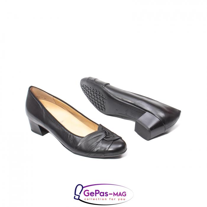 Pantofi eleganti dama din piele naturala neteda cu toc mic AR12-35811 3