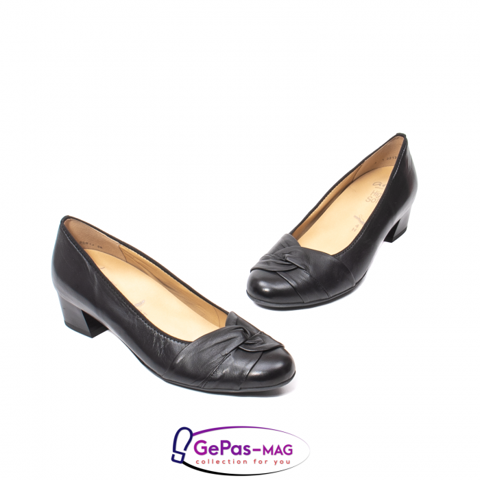 Pantofi eleganti dama din piele naturala neteda cu toc mic AR12-35811 1