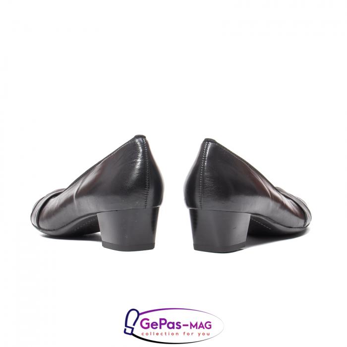 Pantofi eleganti dama din piele naturala neteda cu toc mic AR12-35811 6