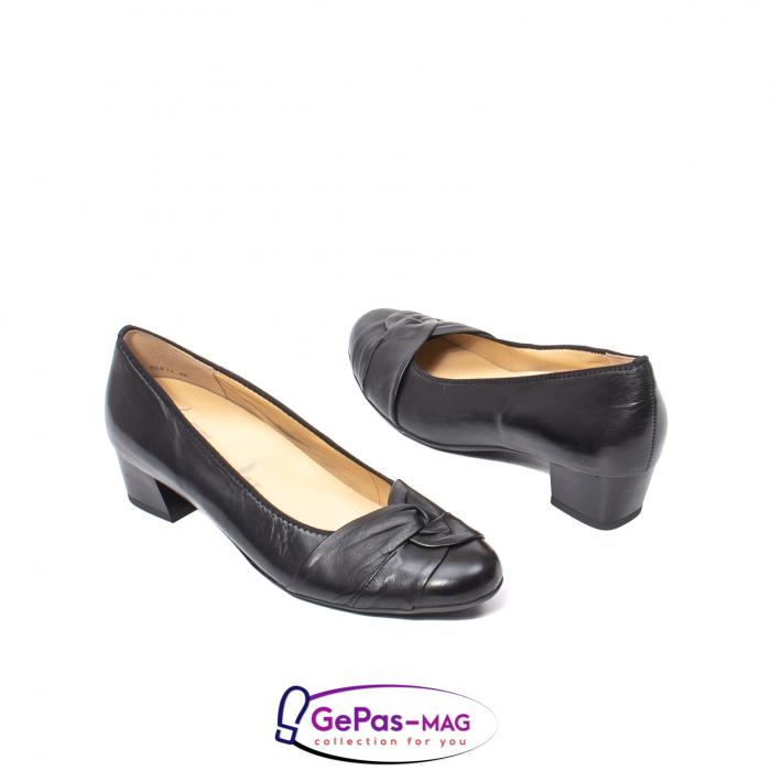 Pantofi eleganti dama din piele naturala neteda cu toc mic AR12-35811 2