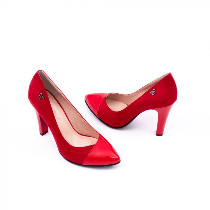 Pantofi eleganti dama 6042 rosu 3