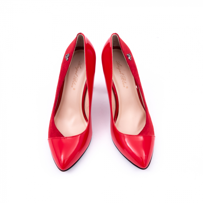 Pantofi eleganti dama 6042 rosu 5