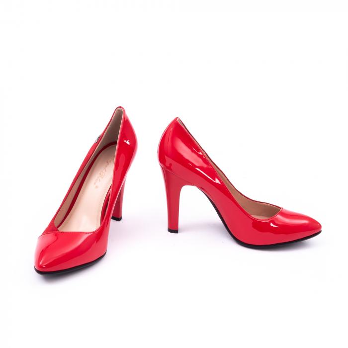 Pantofi eleganti dama 6042 rosu 4