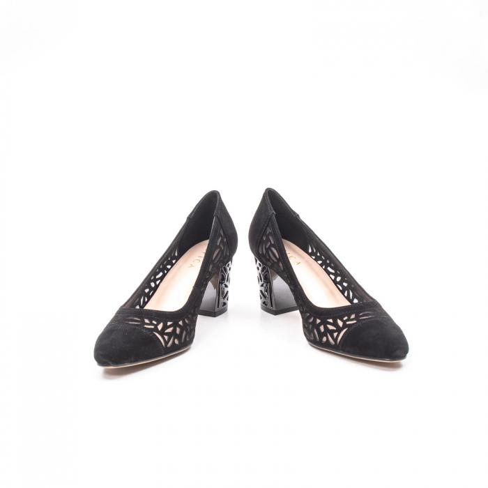 Pantofi eleganti dama, piele naturala 675, negru [4]
