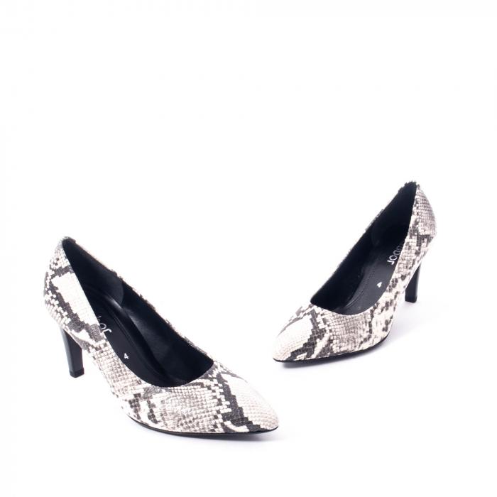 Pantofi eleganti dama piele naturala Gabor 3138030, python grau 1