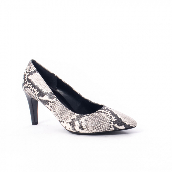 Pantofi eleganti dama piele naturala Gabor 3138030, python grau 0
