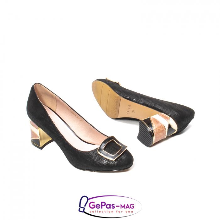 Pantofi eleganti dama, piele naturala, JIX530 3