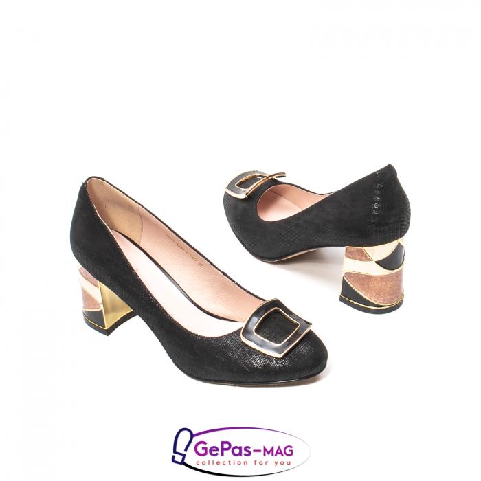 Pantofi eleganti dama, piele naturala, JIX530 2