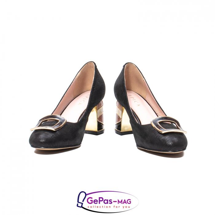 Pantofi eleganti dama, piele naturala, JIX530 4