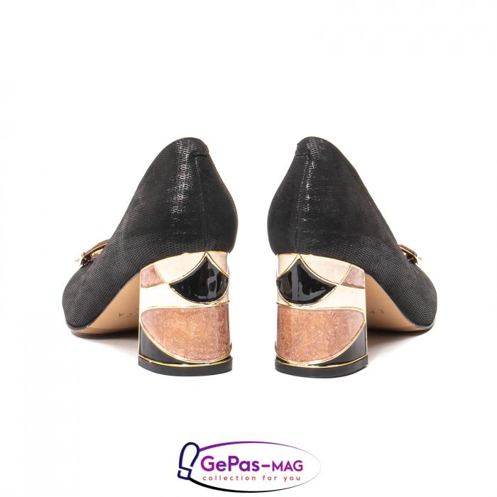 Pantofi eleganti dama, piele naturala, JIX530 6