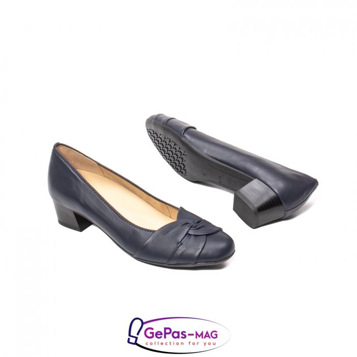 Pantofi eleganti dama, piele naturala, 12-35811 Bleumarin 3