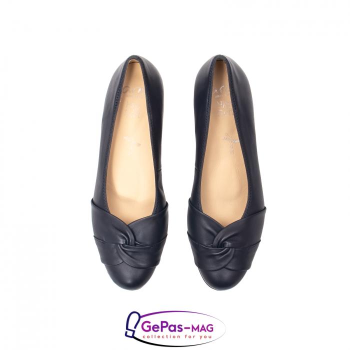 Pantofi eleganti dama, piele naturala, 12-35811 Bleumarin 5