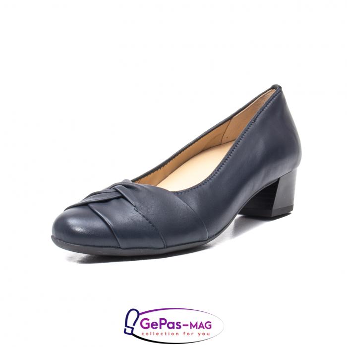 Pantofi eleganti dama, piele naturala, 12-35811 Bleumarin 0