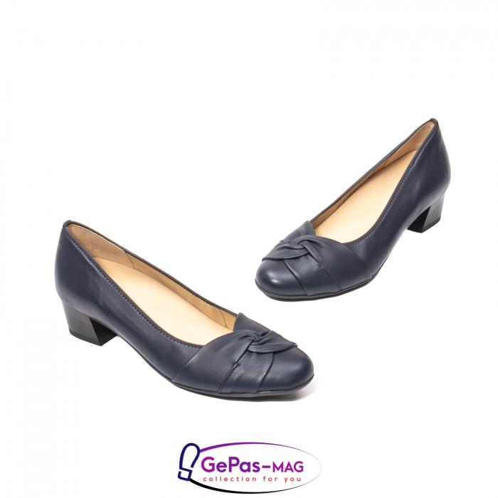 Pantofi eleganti dama, piele naturala, 12-35811 Bleumarin 1