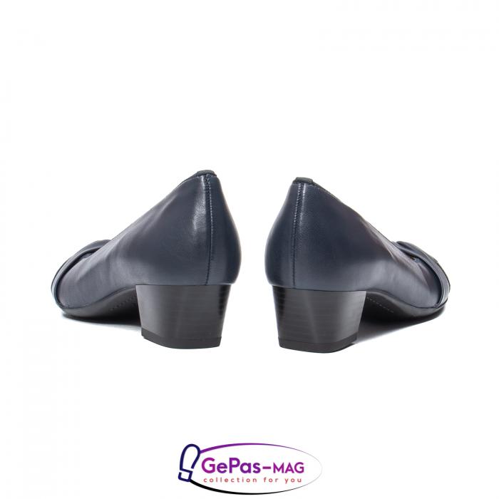 Pantofi eleganti dama, piele naturala, 12-35811 Bleumarin 6