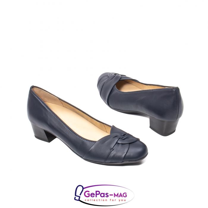 Pantofi eleganti dama, piele naturala, 12-35811 Bleumarin 2