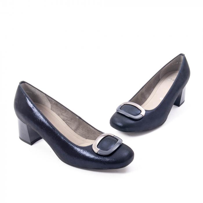 Pantofi eleganti dama, piele naturala Ara 12-35534, bleumarin 1