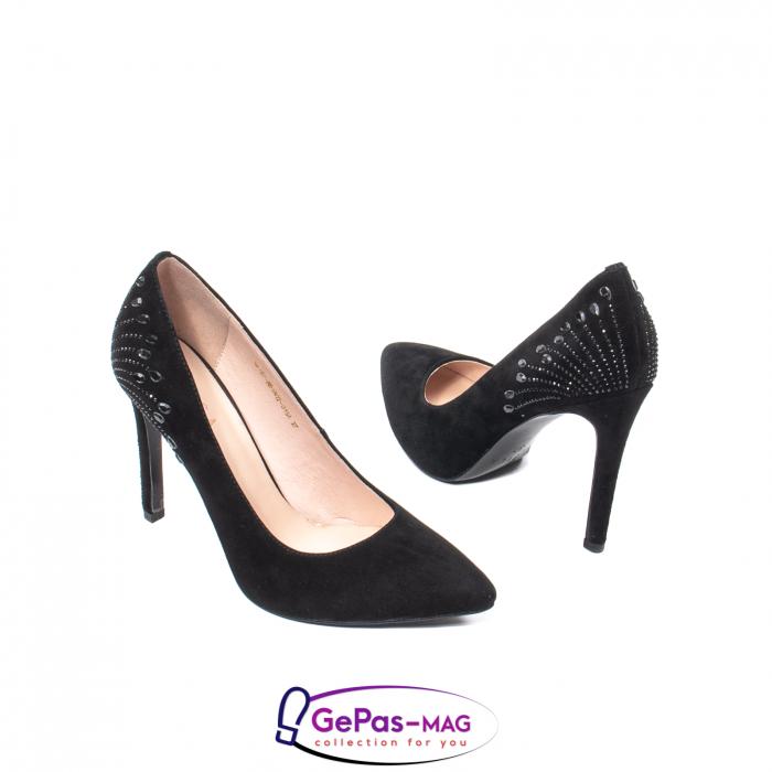 Pantofi eleganti dama, piele naturala de antilopa, C09A197 2