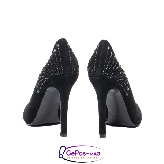 Pantofi eleganti dama, piele naturala de antilopa, C09A197 5