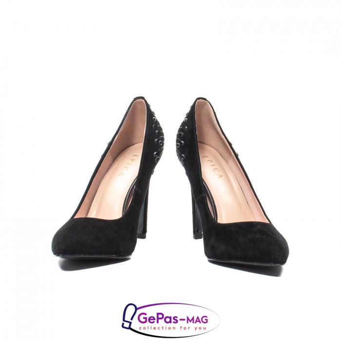 Pantofi eleganti dama, piele naturala de antilopa, C09A197 3