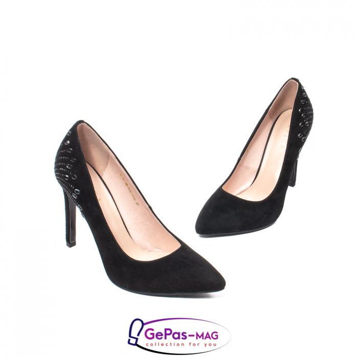 Pantofi eleganti dama, piele naturala de antilopa, C09A197 1