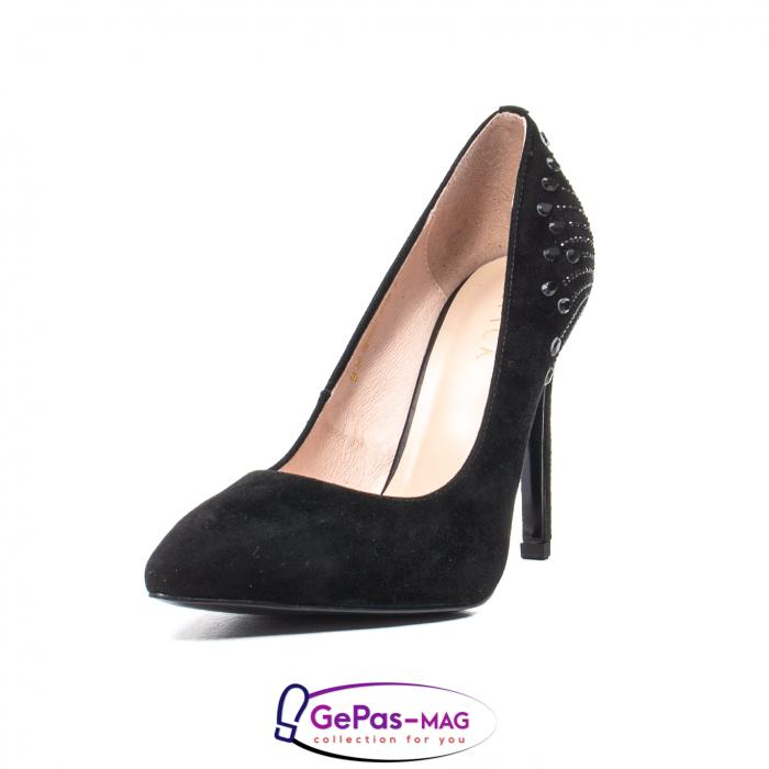 Pantofi eleganti dama, piele naturala de antilopa, C09A197 0