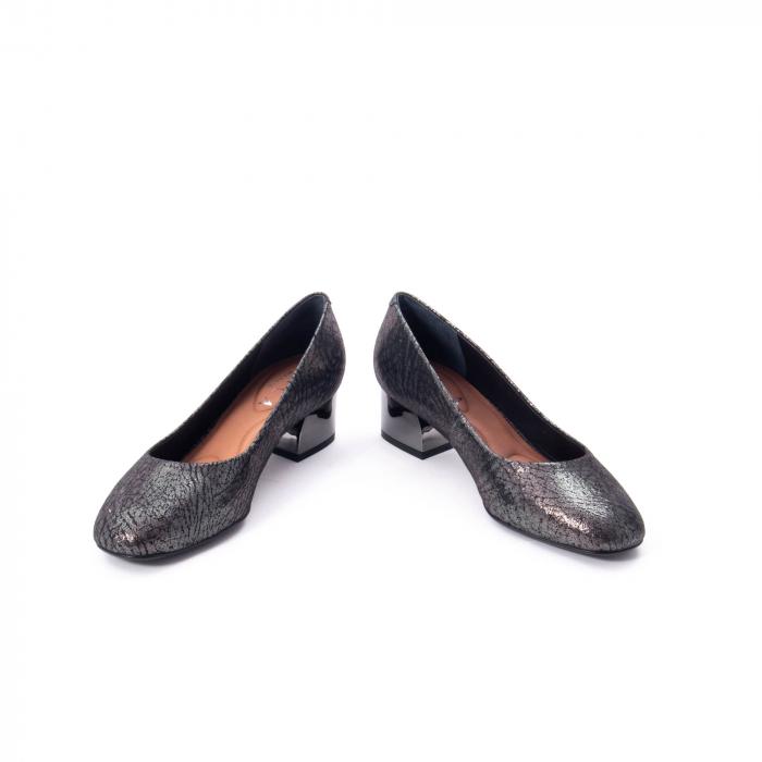 Pantofi eleganti dama, piele naturala, Epica 8750, gri metal 4