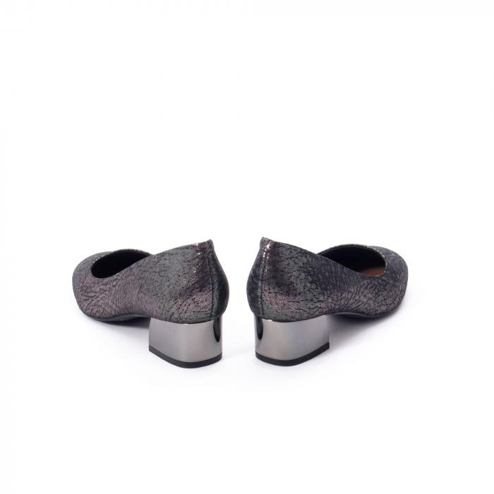 Pantofi eleganti dama, piele naturala, Epica 8750, gri metal 6