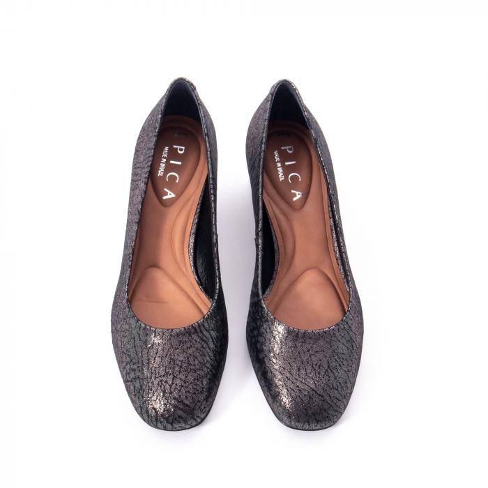 Pantofi eleganti dama, piele naturala, Epica 8750, gri metal 5