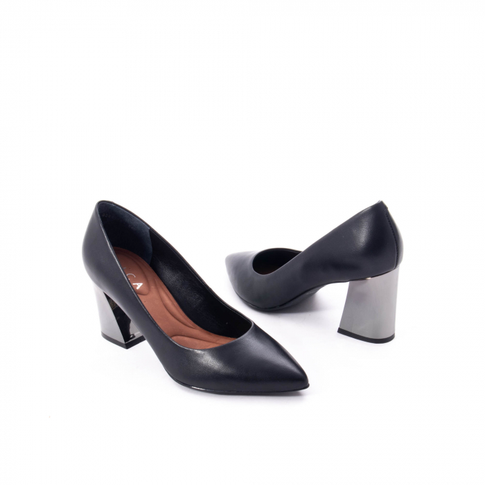 Pantofi eleganti dama, piele naturala,Epica 9288 negru 2