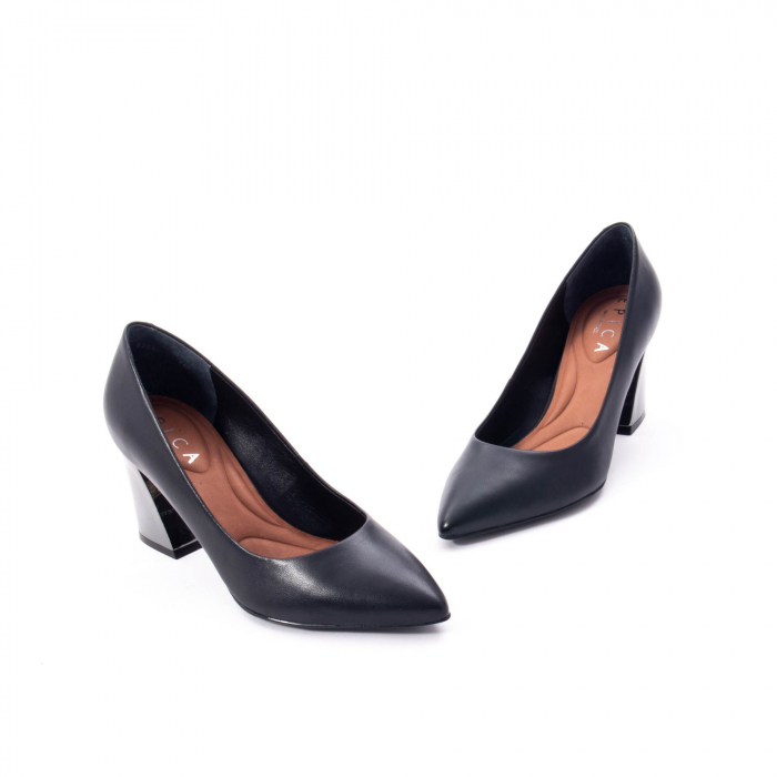 Pantofi eleganti dama, piele naturala,Epica 9288 negru 4