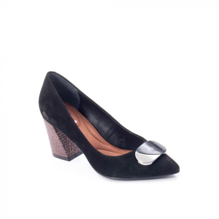 Pantofi eleganti dama, piele naturala, Epica 9628, negru nubuc 0