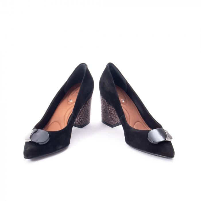 Pantofi eleganti dama, piele naturala, Epica 9628, negru nubuc 4