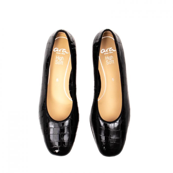 Pantofi eleganti dama, piele naturala lacuita croco, AR11838 26H 5