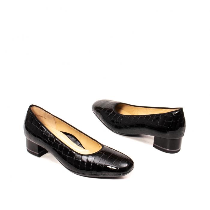 Pantofi eleganti dama, piele naturala lacuita croco, AR11838 26H 2