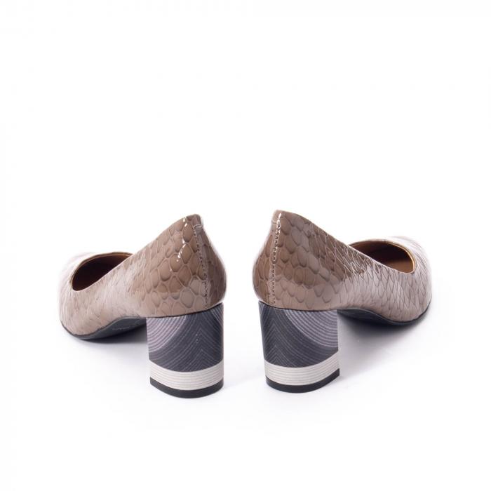 Pantofi eleganti dama piele naturala lacuita, Epica 9690 taupe 6