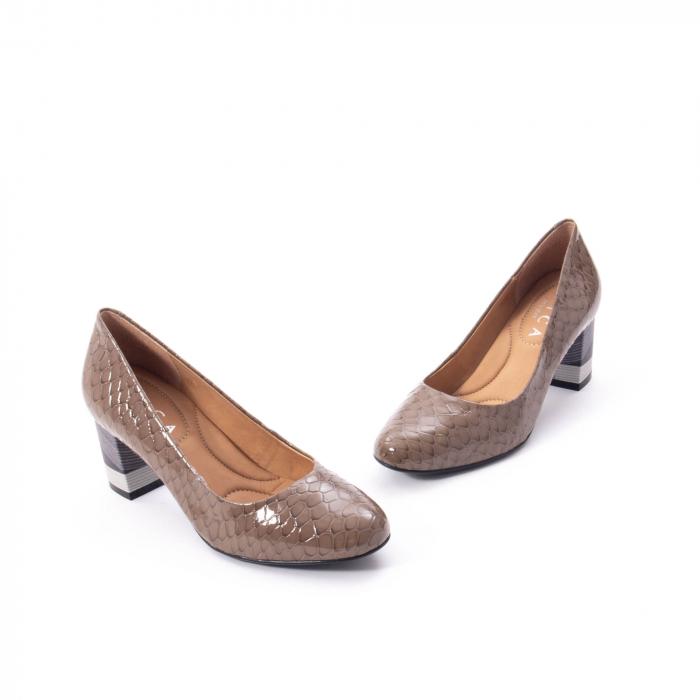 Pantofi eleganti dama piele naturala lacuita, Epica 9690 taupe 1