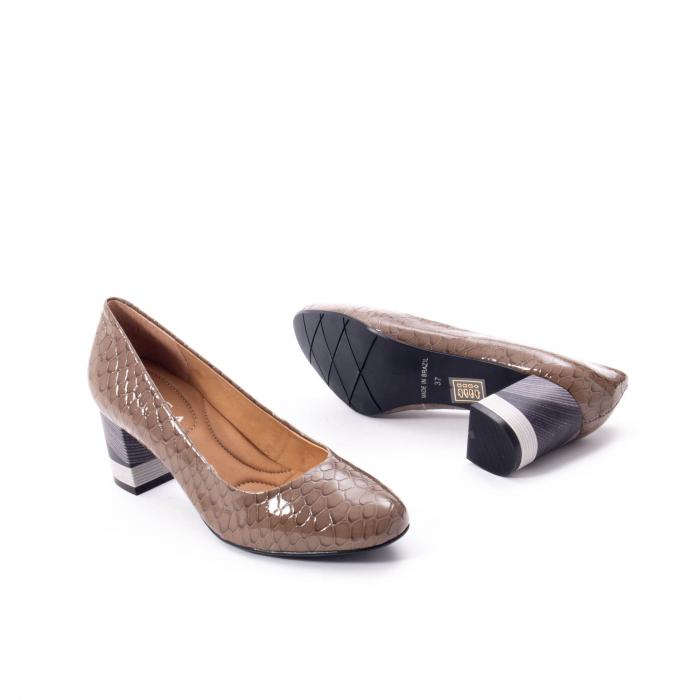 Pantofi eleganti dama piele naturala lacuita, Epica 9690 taupe 3